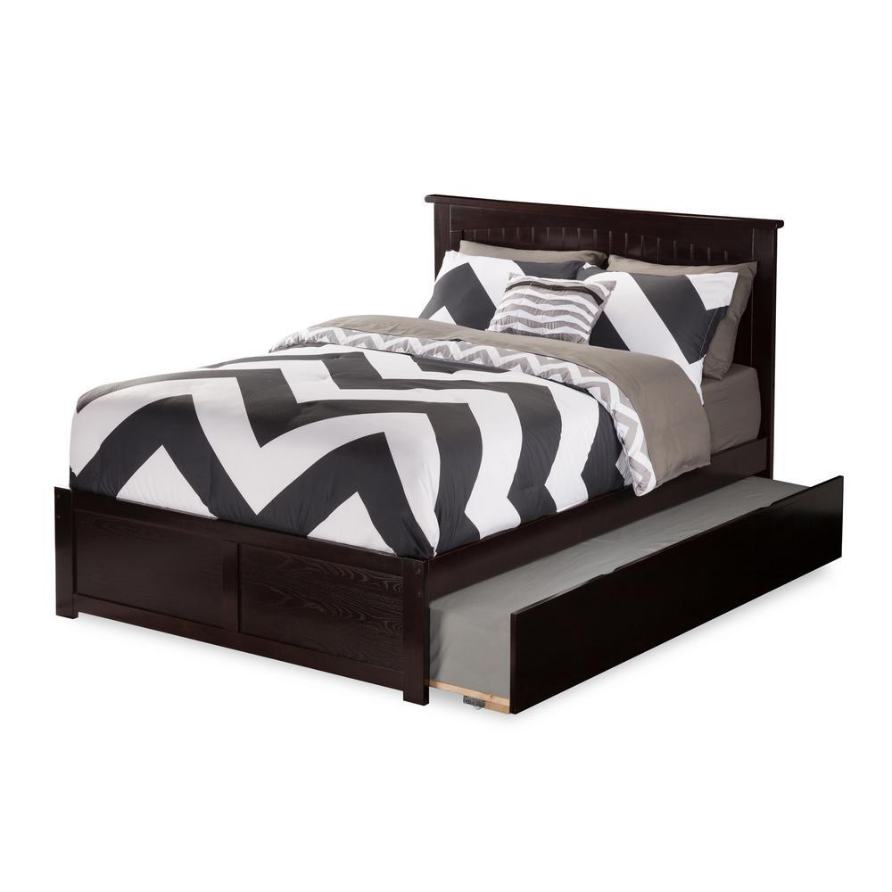 Atlantic Furniture Nantucket Full Platform Bed with Flat Panel Foot Board