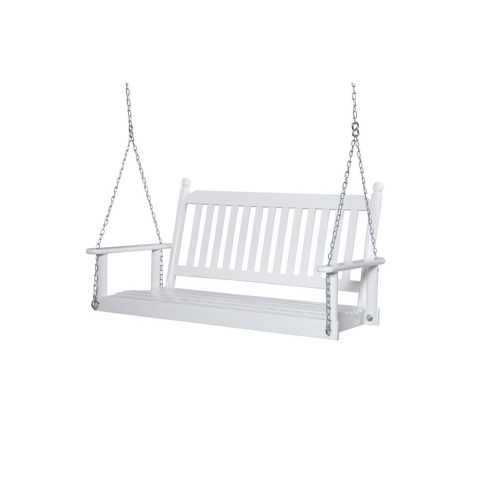 Delightful 2 Person White Porch Swing