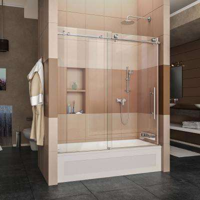Enigma-X 56 in. to 59 in. x 62 in. Frameless Sliding & Bathtub Doors - Bathtubs - The Home Depot