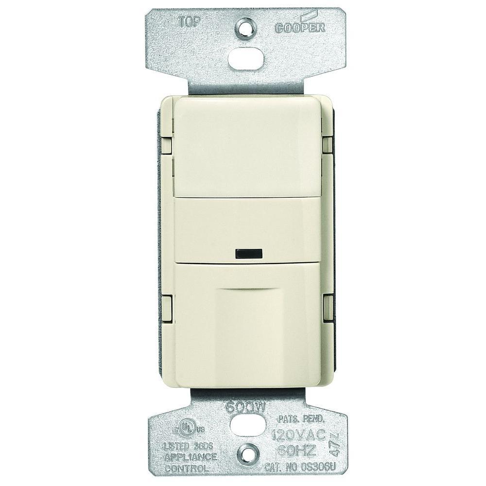 Os306u Occupancy Sensor Wiring Diagram Trusted Cooper Motion Switch Eaton 5 Amp 3 Way Wall Mount Light Almond Lighting Control Module