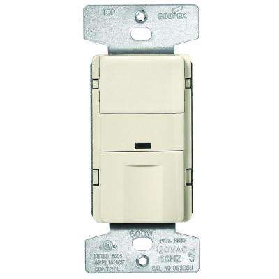 5 Amp 3-Way Wall Mount Occupancy Sensor, Light Almond