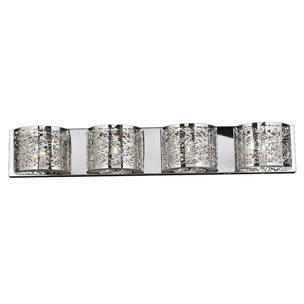 Aramis Collection 4-Light Chrome Crystal Sconce
