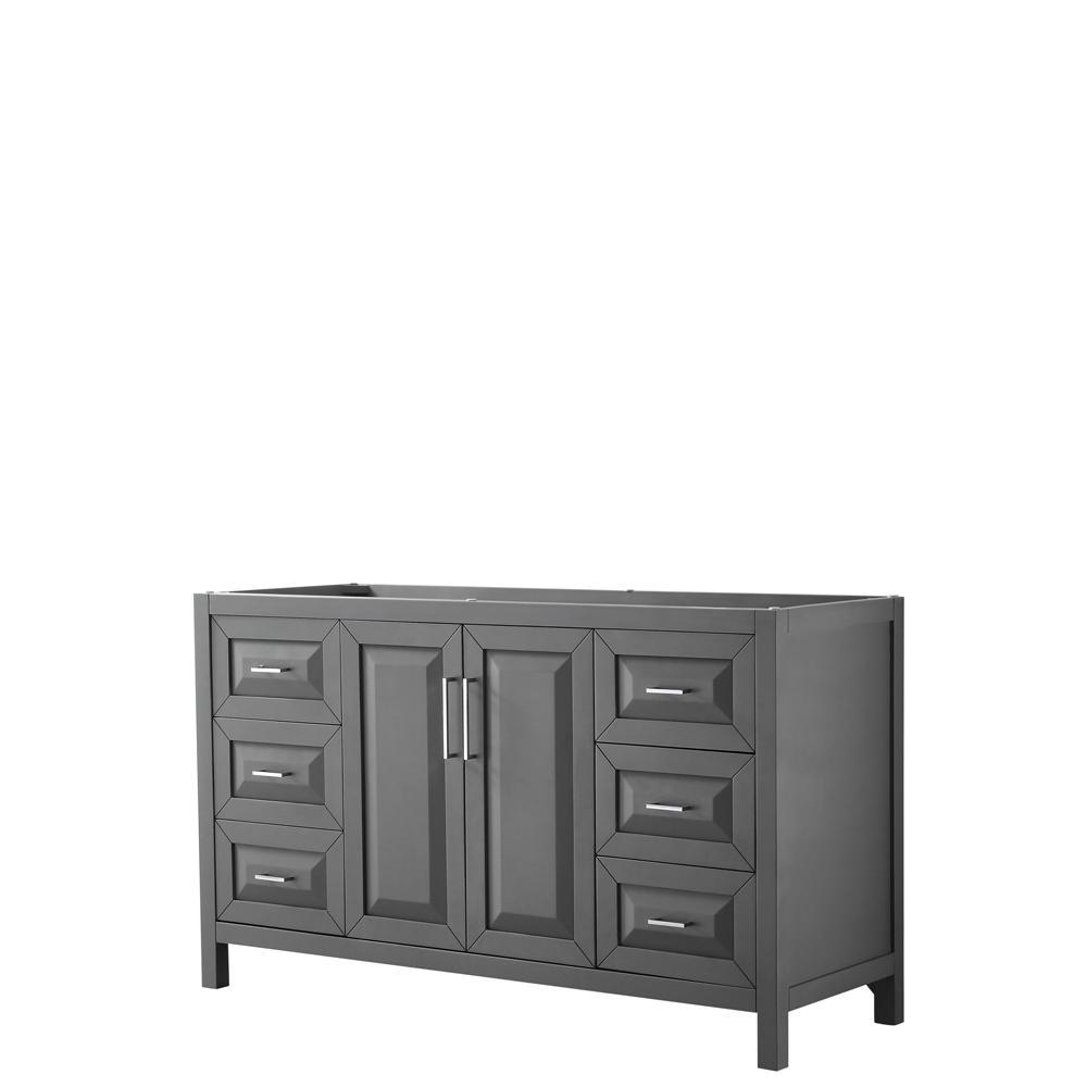 Daria 59 in. Single Bathroom Vanity Cabinet Only in Dark Gray
