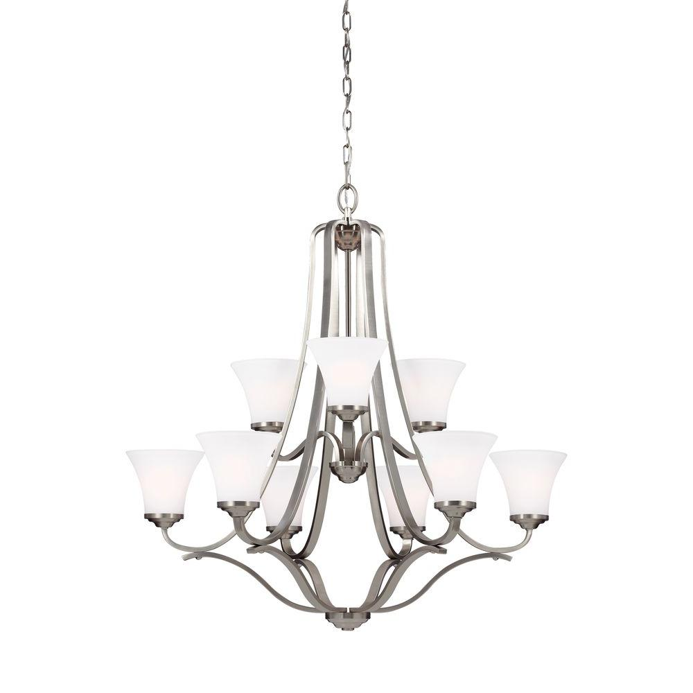 Hamlet 9-Light Satin Nickel Multi-Tier Chandelier