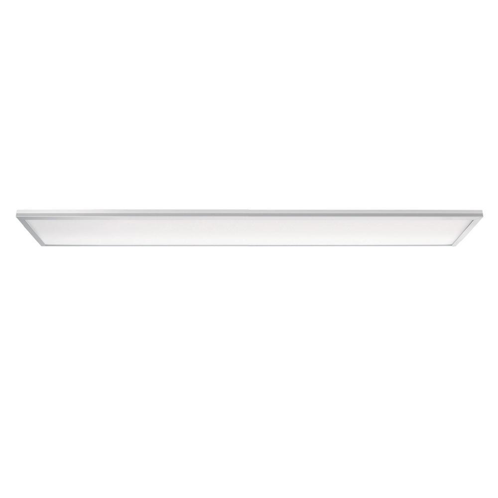 Leviton Skytile 40-Watt Brushed Aluminum 1 x 4 Integrated LED Flat Panel Light, Cool White Temperature