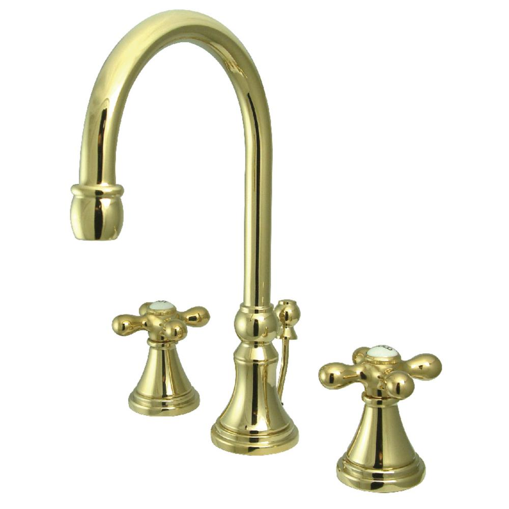 Kingston Brass Governor 8 in. Widespread 2-Handle Bathroom Faucet in Polished Brass
