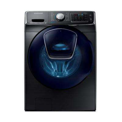 5.0 cu. ft. High Efficiency Front Load Washer with Steam and AddWash Door in Black Stainless Steel, ENERGY STAR