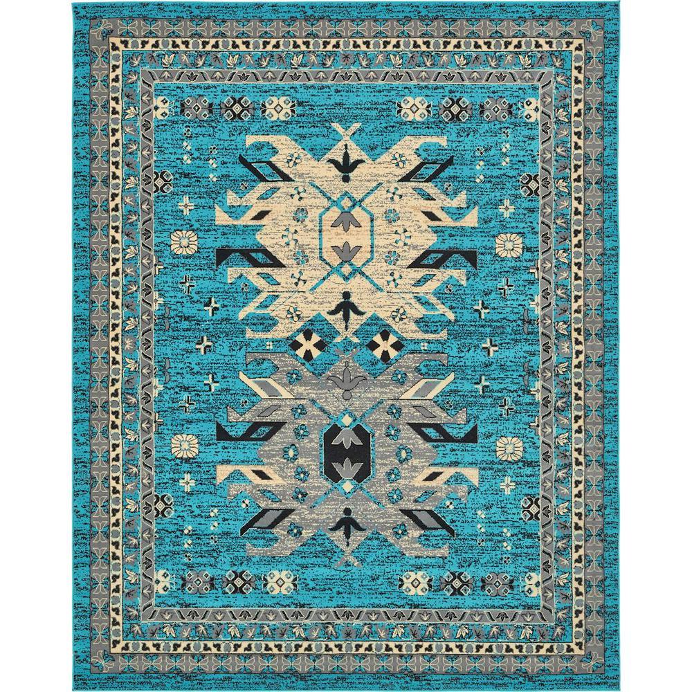 Taftan Oasis Turquoise 8' 0 x 10' 0 Area Rug