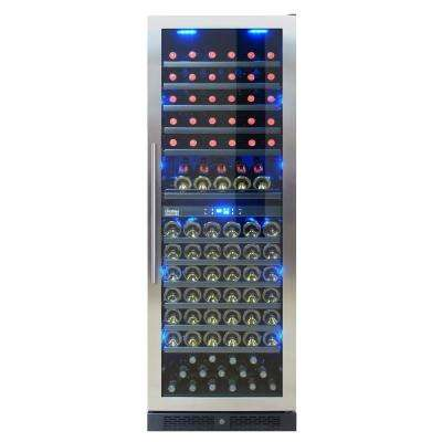 149 Bottle Seamless Dual-Zone Wine Cooler in Stainless Steel