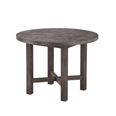 Concrete Chic Round Patio Dining Table