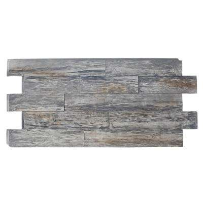 Time Weathered Faux Rustic Panel 1-1/4 in. x 48 in. x 23 in. Weathered Barn Polyurethane Interlocking Panel