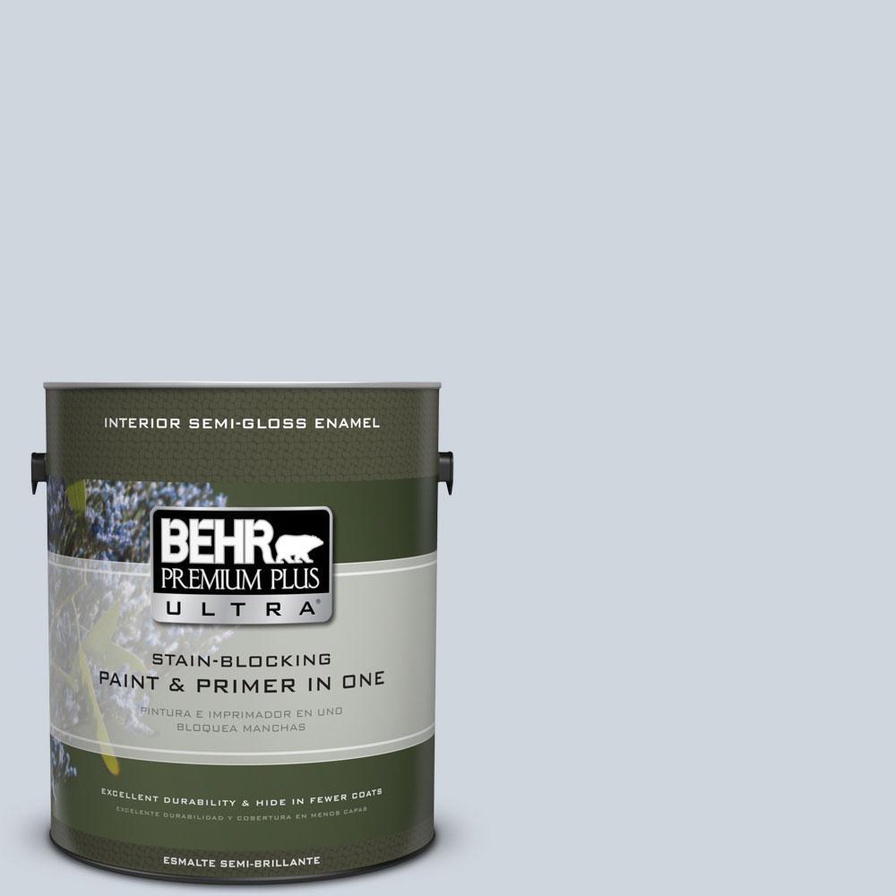 BEHR Premium Plus Ultra 1-gal. #740E-2 Misty Surf Semi-Gloss Enamel Interior Paint