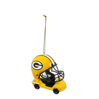 Green Bay Packers 3 in. NFL Field Car Christmas Ornament