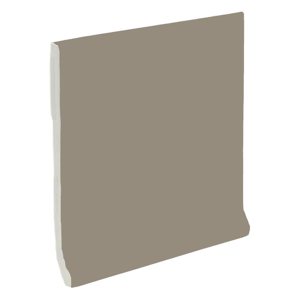 U.S. Ceramic Tile Color Collection Matte Cocoa 4-1/4 in. x 4-1/4 in. Ceramic Stackable Cove Base Wall Tile-DISCONTINUED
