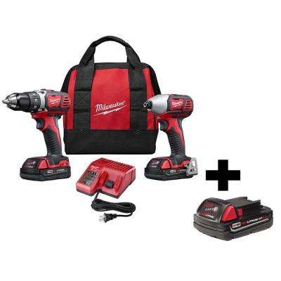 M18 18-Volt Lithium-Ion Cordless Drill Driver/Impact Driver Combo Kit (2-Tool) w/Free 2.0Ah Battery