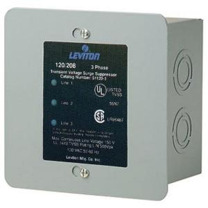 Leviton 120/208-Volt 3-Phase WYE Surge Protector Panel-51120-3 - The on
