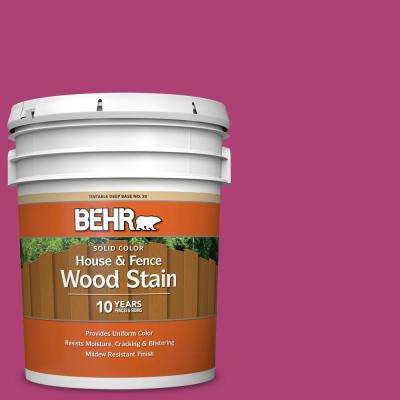 5 gal. #100B-7 Hot Pink Solid Color House and Fence Exterior Wood Stain