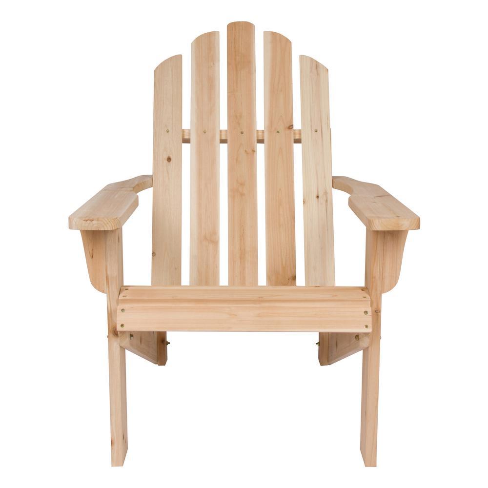 Bon Shine Company Marina Natural Cedar Wood Adirondack Chair