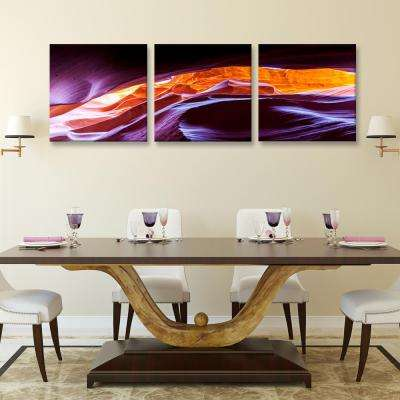 "20 in. x 60 in. ""Scenic Canyon Antelope"" Printed Canvas Wall Art"