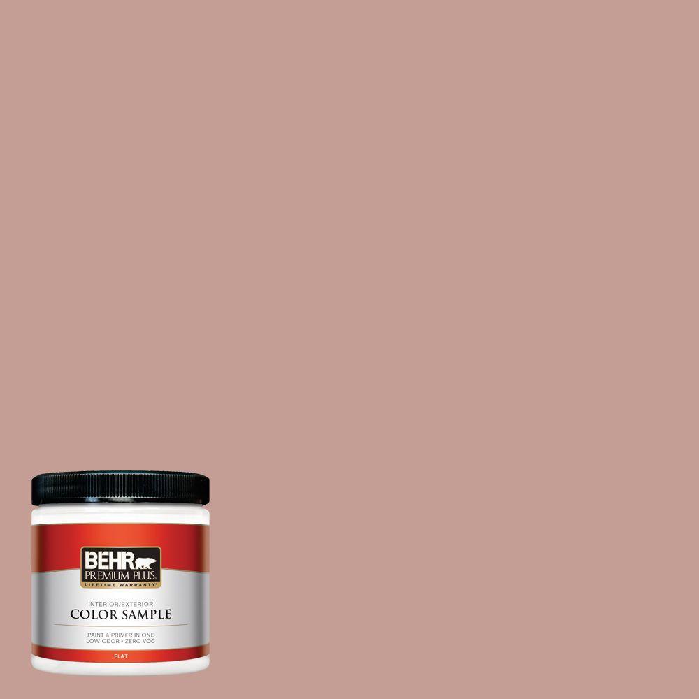 BEHR Premium Plus 8 oz. #S170-4 Retro Pink Flat Interior/Exterior ...