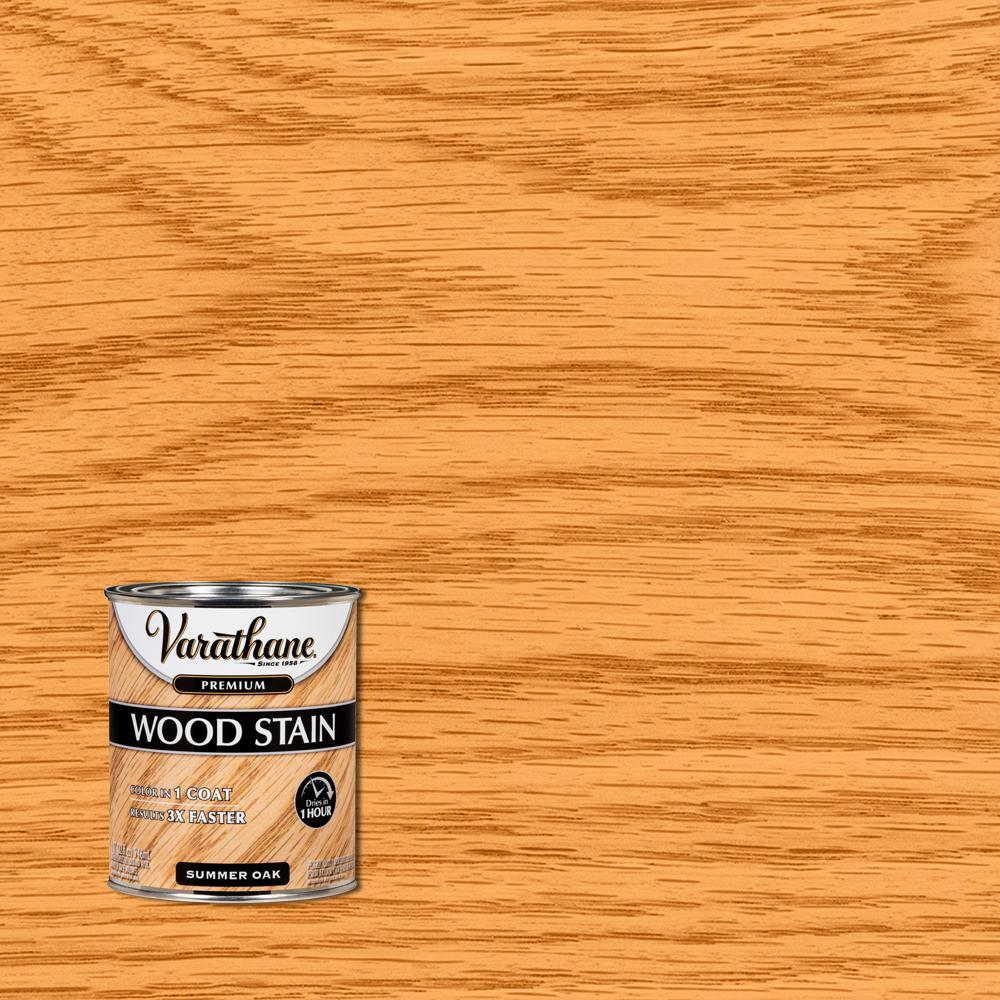 1 qt. Summer Oak Premium Fast Dry Interior Wood Stain (2-Pack)