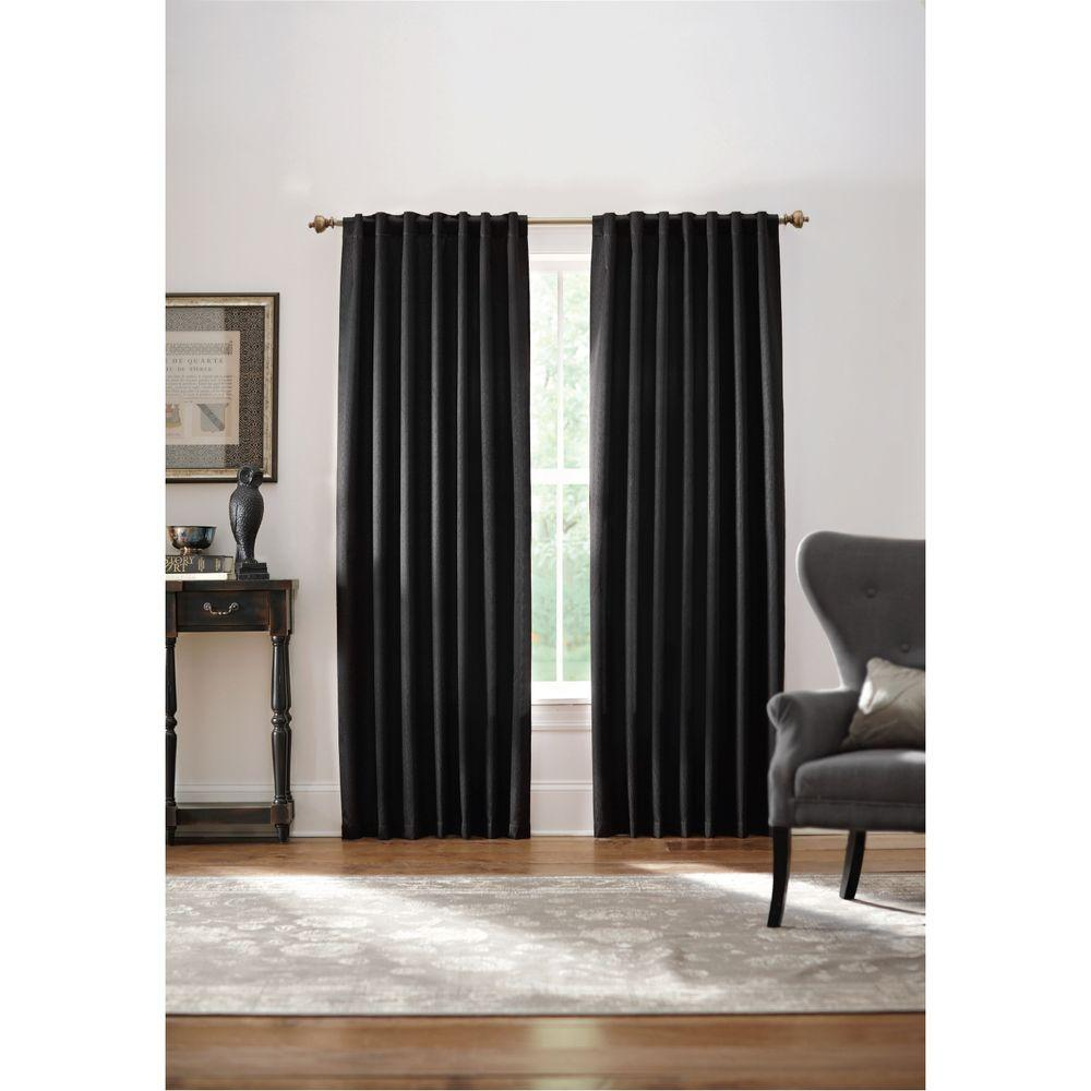 Home Decorators Collection Blackout Black Monaco Thermal