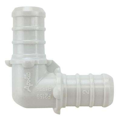 1/2 in. Plastic PEX Barb 90-Degree Elbow Jar (65-Pack)