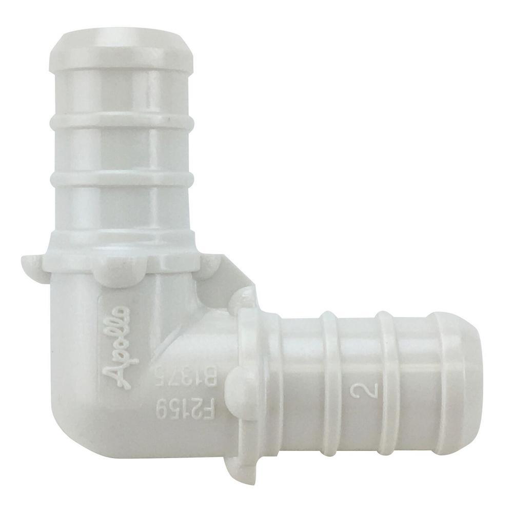 1/2 in. Plastic PEX Barb 90-Degree Elbow Jar (65-Pack)
