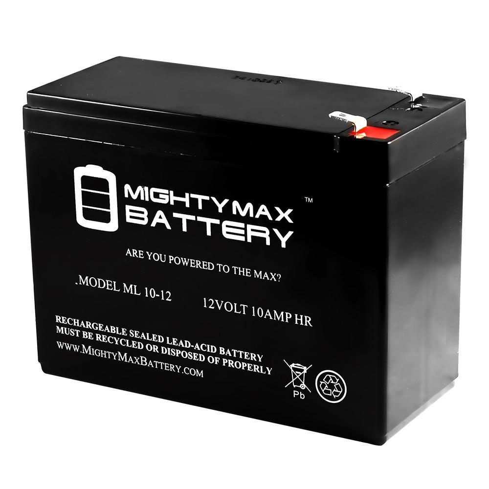 12-Volt 10 Ah Sealed Lead Acid (SLA) Rechargeable Battery