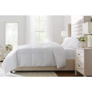 Medium Weight Down White Cotton Full/Queen Comforter