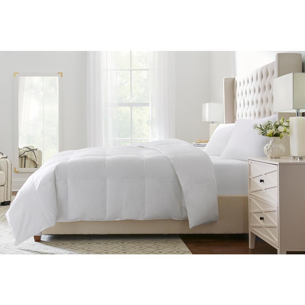 Medium Weight Down White Cotton King Comforter