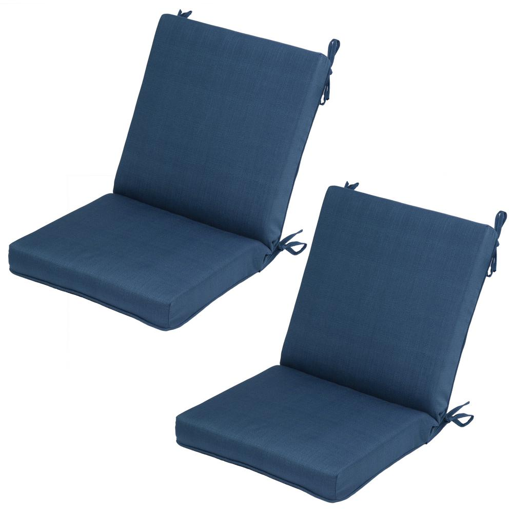 Charleston Mid Back Outdoor Dining Chair Cushion 2 Pack