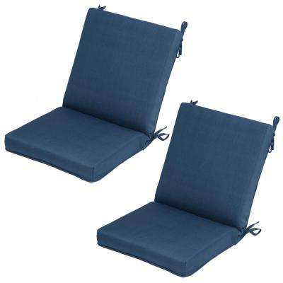 Charleston Mid-Back Outdoor Dining Chair Cushion (2-Pack)
