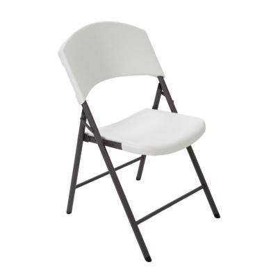 Almond Plastic Seat Outdoor Safe Plastic Folding Chair