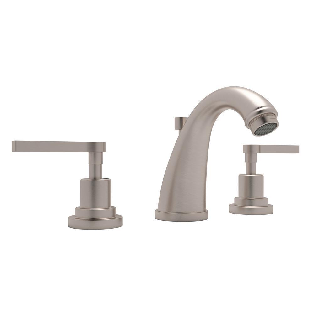 Rohl Avanti 8 in. Widespread 2-Handle Bathroom Faucet in Satin ...