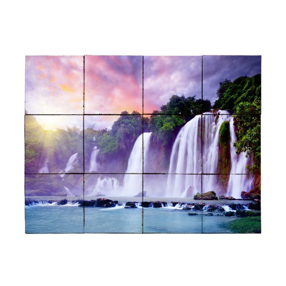 Tile My Style Waterfall2 24 in. x 18 in. Tumbled Marble Tiles (3 sq. ft. /case)