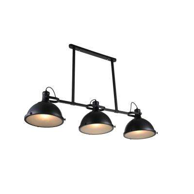 Strum 3-Light Black Chandelier