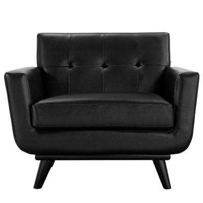Engage Black Bonded Leather Armchair