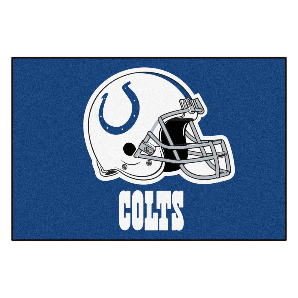 FANMATS NFL Indianapolis Colts Blue 2 ft. 10 in. x 3 ft. 9 in. Indoor All Star Accent Rug