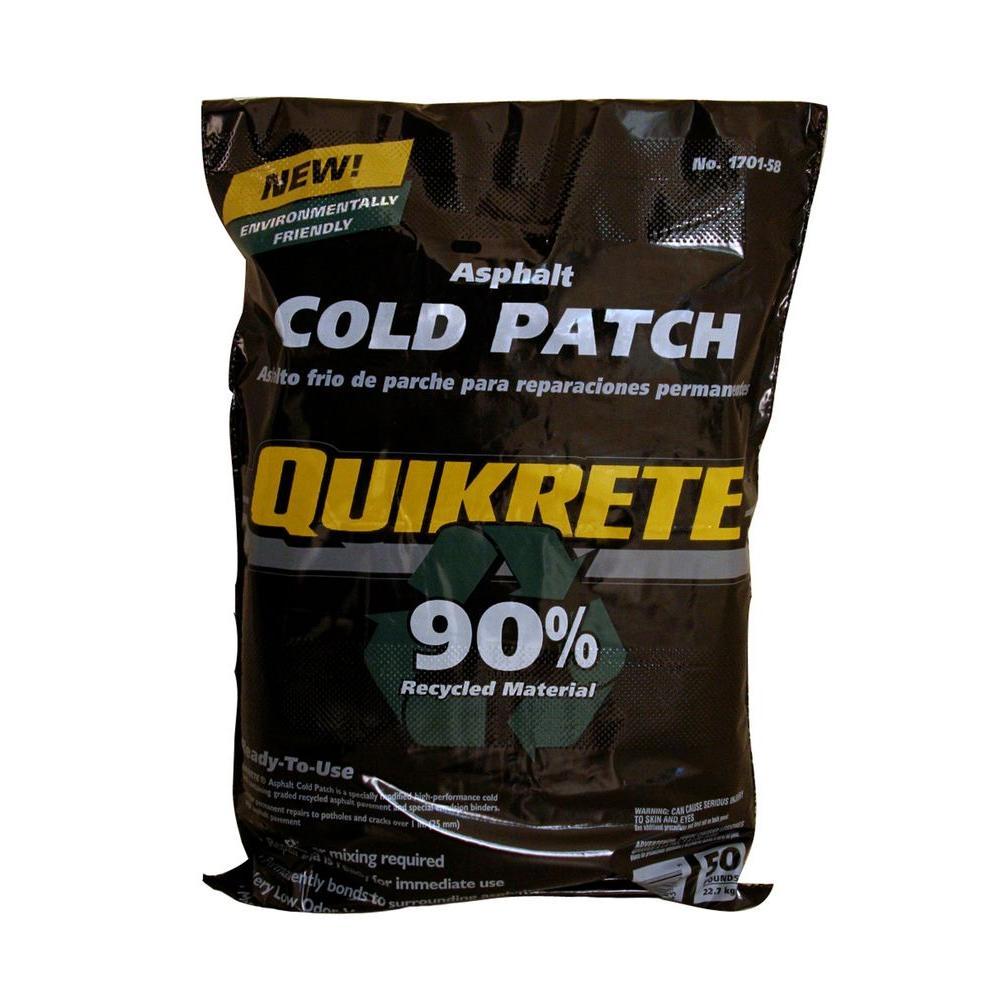 Quikrete 50 Lb Asphalt Cold Patch 170158 The Home Depot