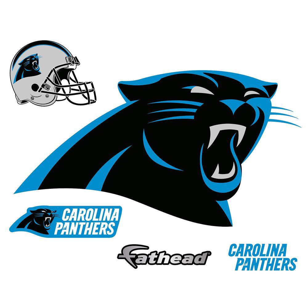 Fathead 31 In H X 57 In W Carolina Panthers Logo Wall Mural 14