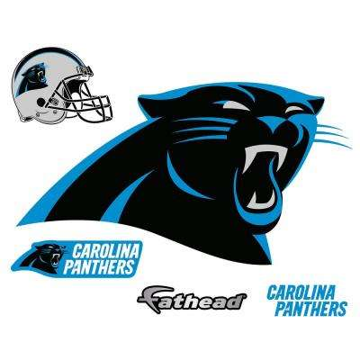 31 in. H x 57 in. W Carolina Panthers Logo Wall Mural