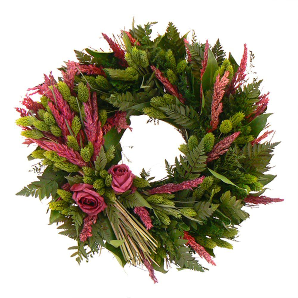 The Christmas Tree Company Love Eternal 16 in. Dried Floral Wreath-DISCONTINUED