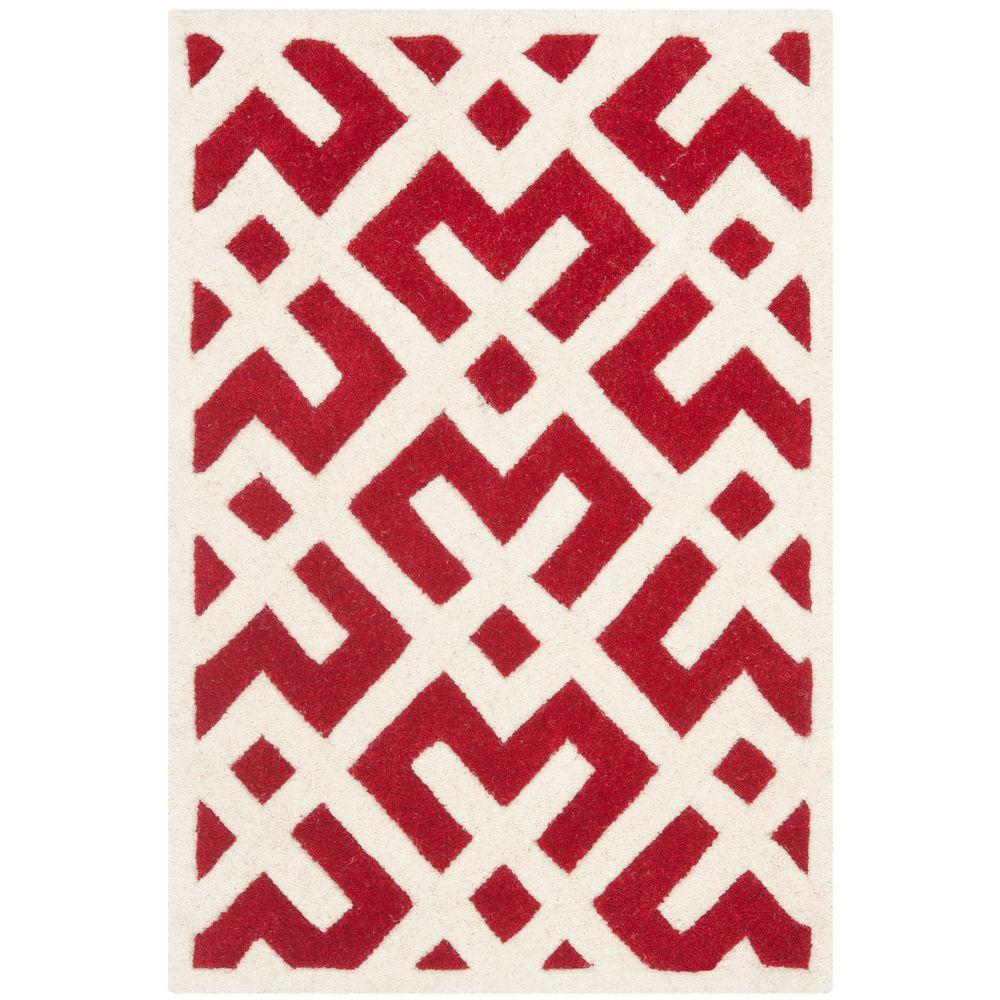 Safavieh Chatham Red/Ivory 2 ft. x 3 ft. Area Rug