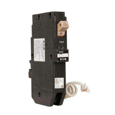 CH 20 Amp 1-Pole Self Test Ground Fault Circuit Breaker with Trip Flag