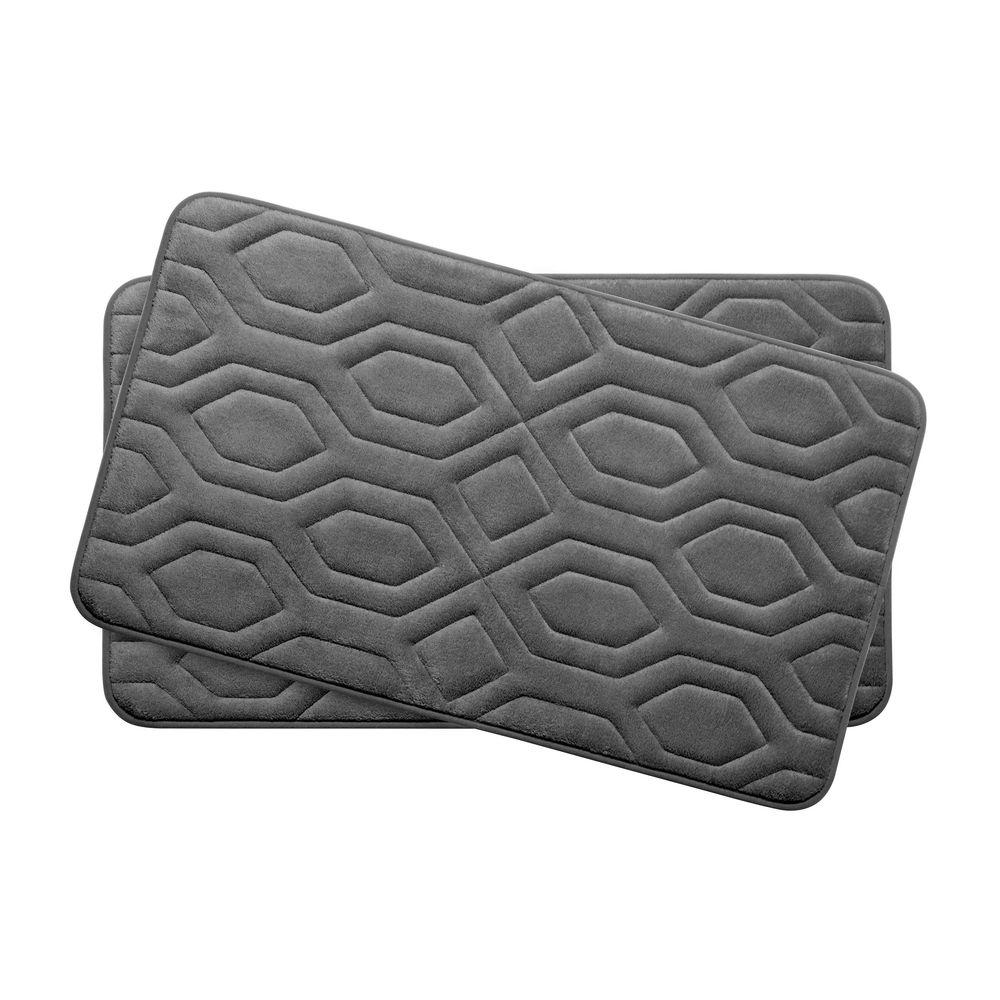 Bouncecomfort Turtle Shell Dark Gray 17 In X 24 In