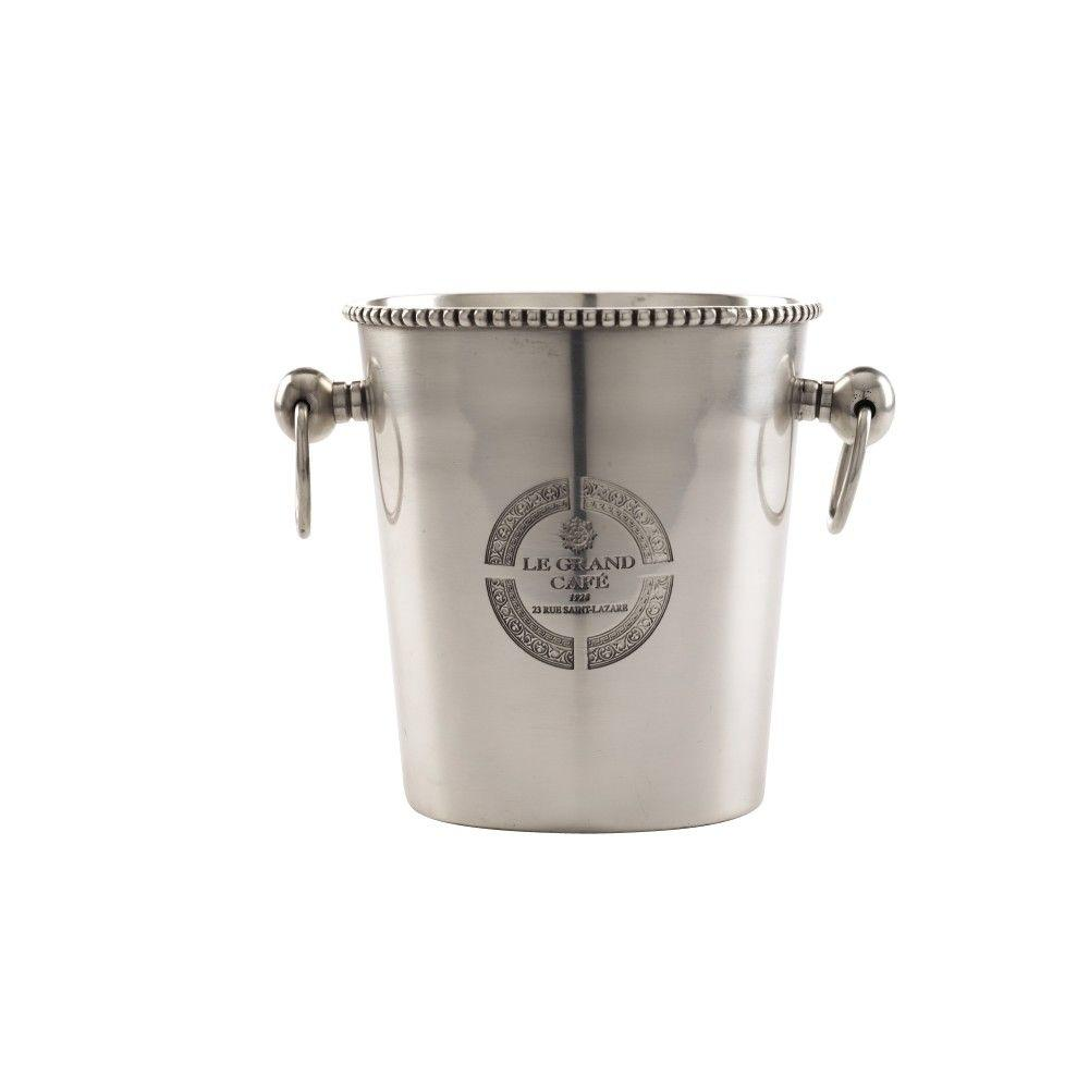 Home Decorators Collection Le Grand 5 in. Diameter Pewter Cafe Barware Bucket