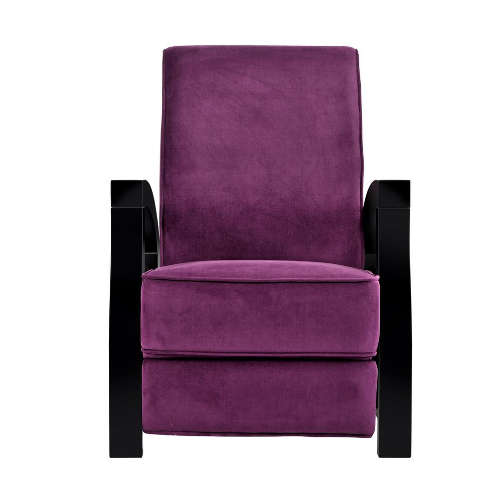 ARTIVA Kuta Solid Wood Java Black and Premium Purple Micr...