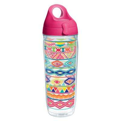 Bright Aztec 24 oz. Double Walled Insulated Water Bottle