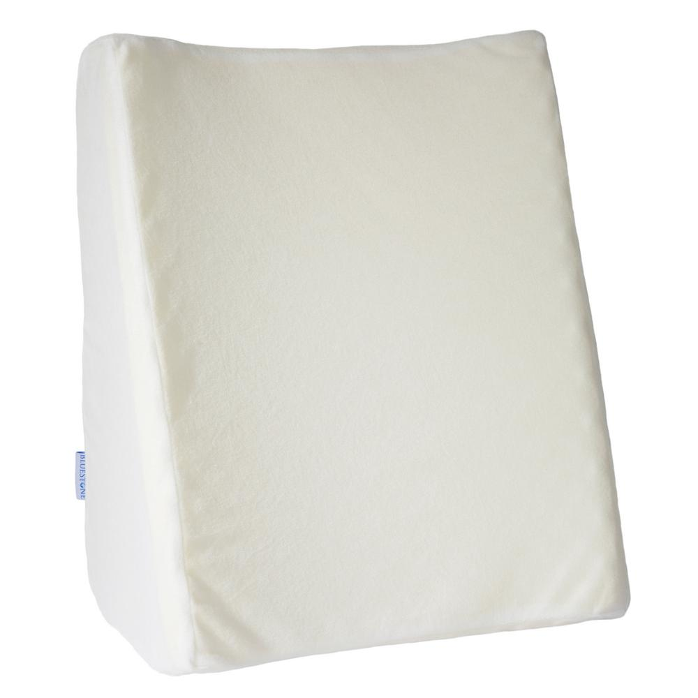 Bluestone Dual Position Wedge Pillow with White Terry Clo...